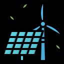 éolienne et panneau photovoltaïque