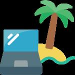 comparer avec votre ofrinateur portable sous les palmiers zen