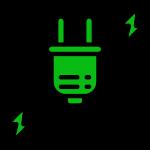 Prise électrique verte
