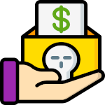 emoji perte d'argent
