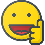 emoji smiley heureux pouce en l'air
